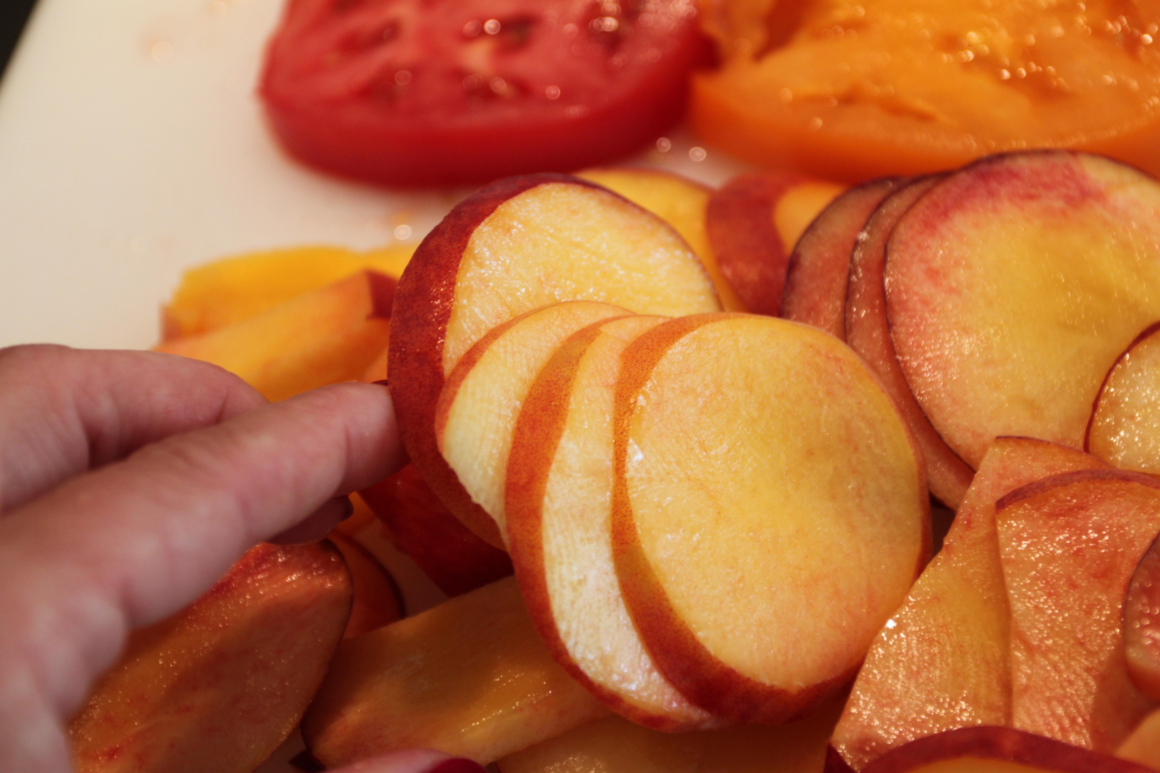 Peach, Tomato and Burrata Salad   Blended Kitchen
