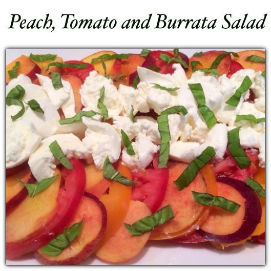 ... peach tomato salsa tomato peach burrata salad recipe burrata salad